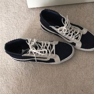 Navy Blue Knit Vans